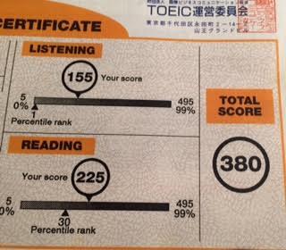 TOEIC 380