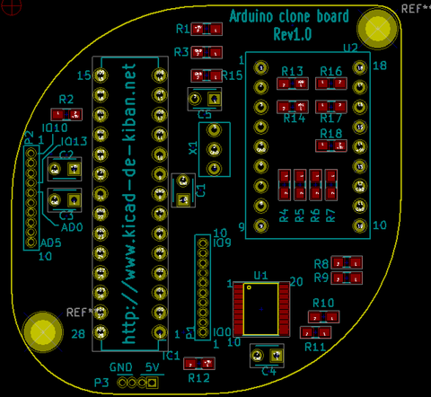 Arduino互換基板の作成(9) 〜プリント基板データの作成(その3)〜