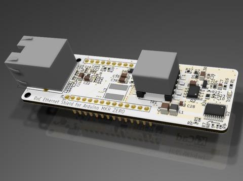 Arduino MKR ZERO用PoE機能付きEthernetシールド基板の作製(1) 〜導入編〜