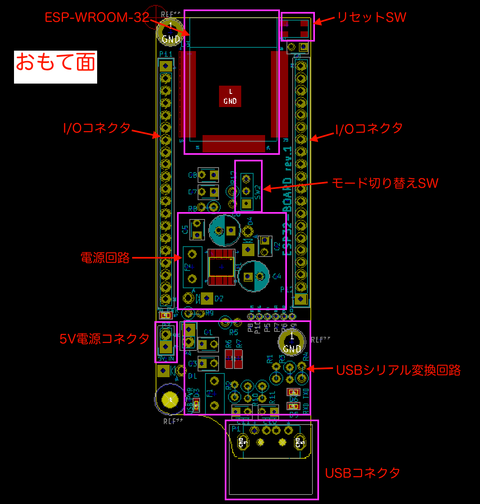 ESP-WROOM-32汎用基板の作成(11) 〜基板データの解説+失敗談〜
