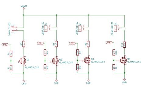 LED駆動回路配線