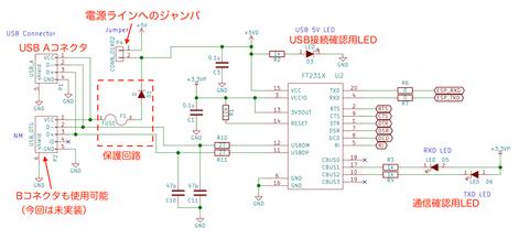 USBシリアル変換回路