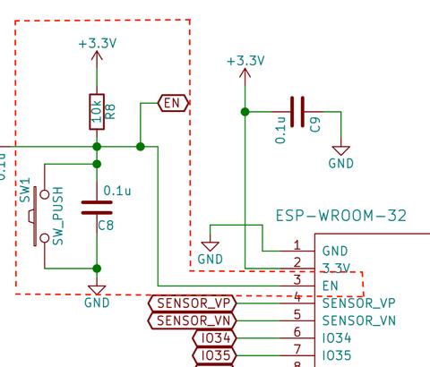 ESP-WROOM-32汎用基板の作成(8) 〜回路図の解説その2〜