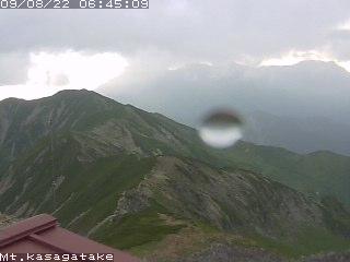 笠岳山荘からの槍穂高方面
