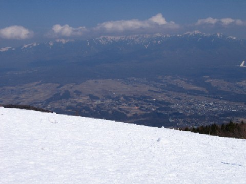 山頂にて2