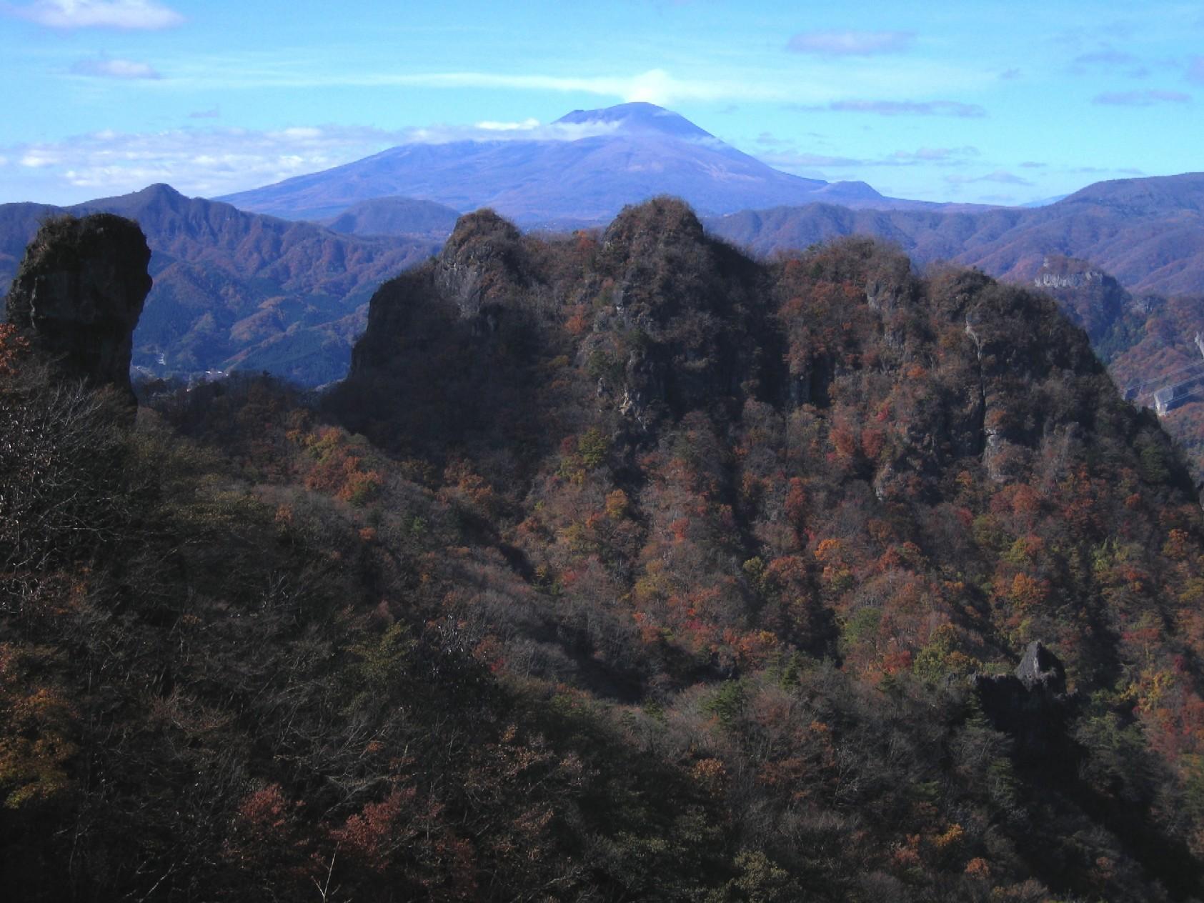 妙義稜線から浅間山