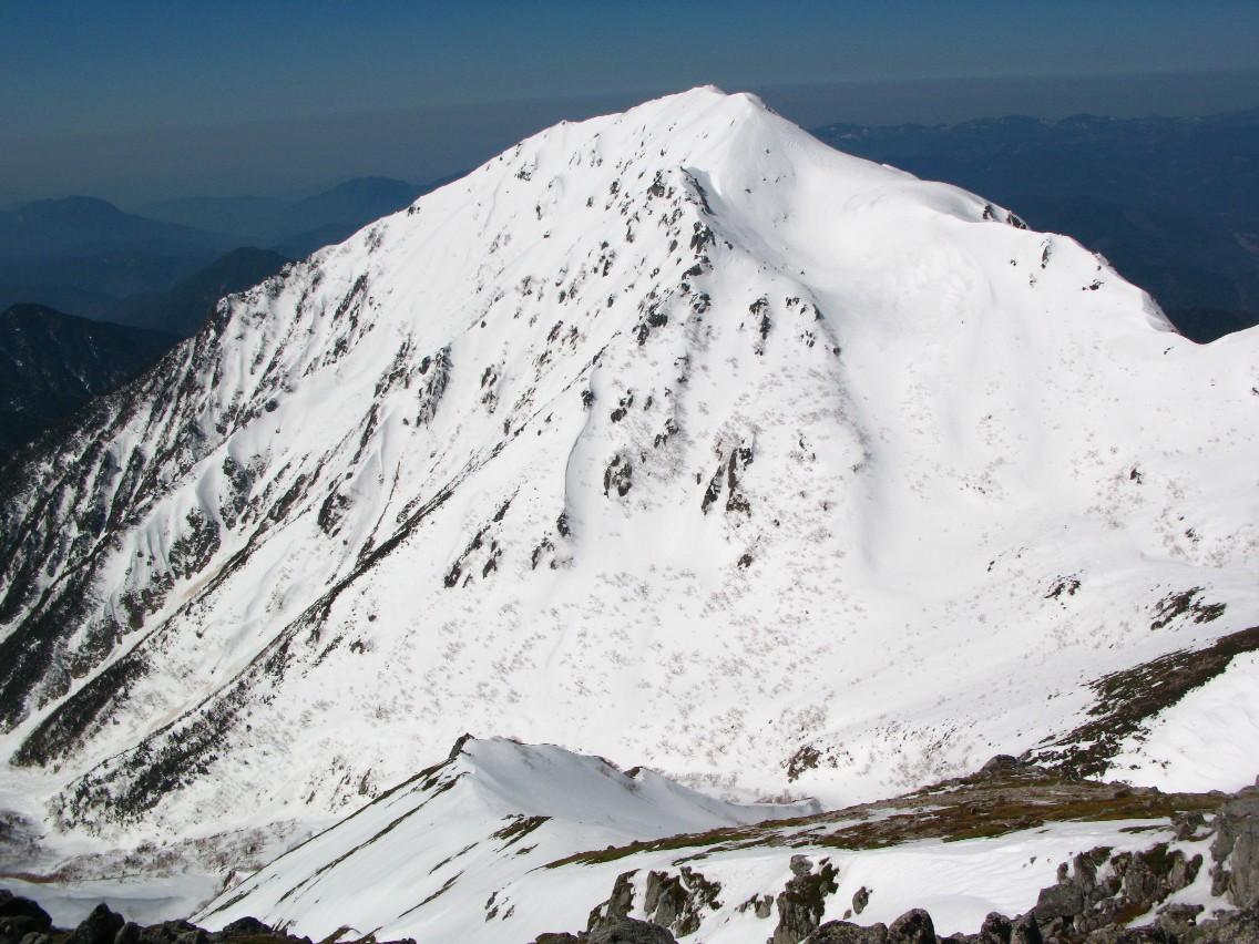 極楽平からの三ノ沢岳