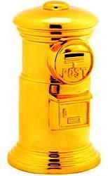 黄金ジャンボポスト貯金箱