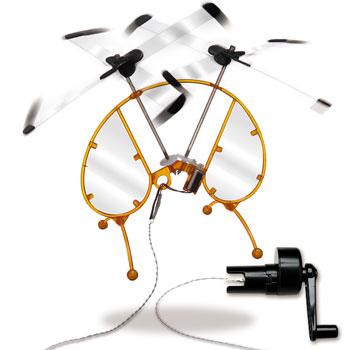 手回し発電ヘリ クロスコプター1