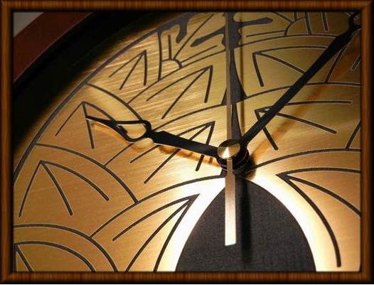 家紋壁掛け時計 抱き茗荷 だきみょうが