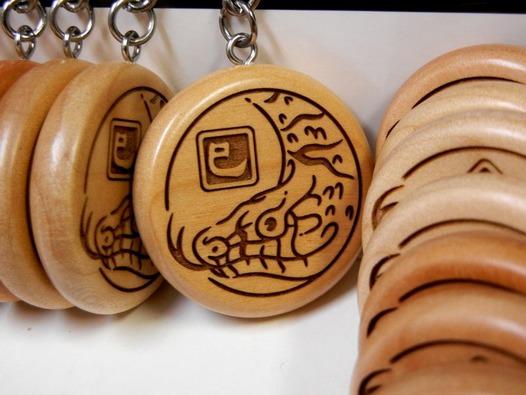 巳年 干支の木札キーホルダー