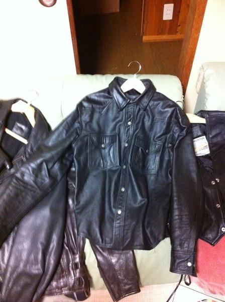 kadoya leather shirt