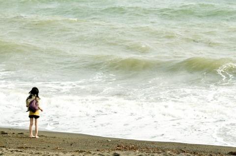 海岸_女性