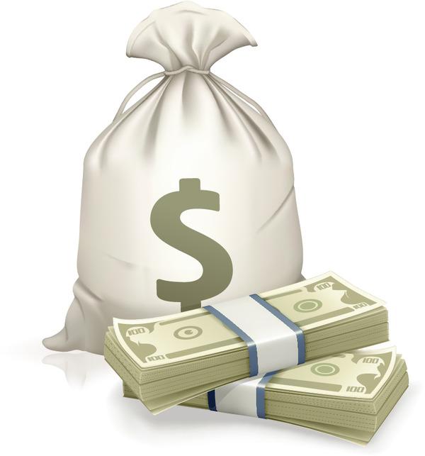 紙幣と大金 dollar currency money イラスト素材
