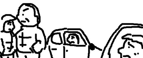 開店前のラーメン屋の駐車場で待機してたら途中から来た奴が空気も読まずに一番に並びやがった のサムネイル