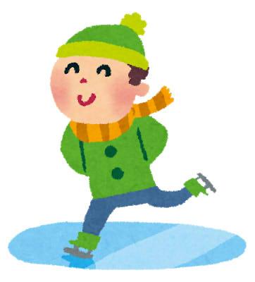 冬休みになると父の実家に遊びに行き、近くに天然のスケートリングになる湖があって、スケートを教えて貰っていた。ある時、練習中、轟音にビックリしてひっくり返ってしまい…。