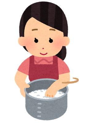 【衝撃】おかんが、お釜に米と水を入れてしゃもじでザックザックザックザック…と米を研いでいるのを発見してしまった。