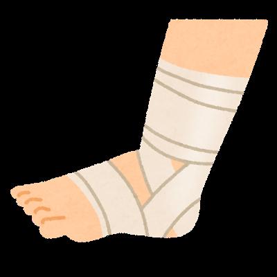 【衝撃】階段を踏み外し2~3段落ちて様子を見てたが腫れてきたので翌日病院に行ったら靭帯損傷してた