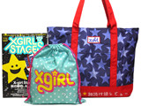 X-girl Stages 2013 Fall 《付録》 デニムプリントトートバッグ&星柄きんちゃく