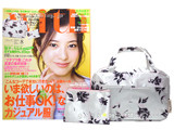 with (ウィズ) 2013年 08月号 《付録》 アプワイザー・リッシェ ローズ柄バッグinバッグ&ミニポーチ