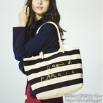 agnes b. VOYAGE 2012 spring/summer collection 《付録》 ボーダー柄キャンバストート