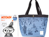 MOOMIN 公式ファンBOOK&BOX 2015-2016 style 1 BLUE 《付録》 リンゴが降る森のマチ広トートバッグ