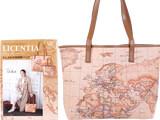 LICENTIA Bag Book 《付録》 ヌメ革風 地図柄 トートバッグ