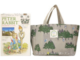 PETER RABBIT 絵本の世界を巡るイギリスの旅 《付録》 conges payes ピーターと森のトートバッグ