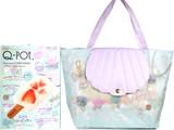 Q-pot. Seasonal LOOK BOOK~Mint Soda Lagoon~ 《付録》 ポケット付 折りたたみ式 シェルマカロン トートバッグ
