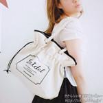 キャンバス地巾着型ロープバッグ【snidel 2012 Spring/Summer Collection e-MOOK】