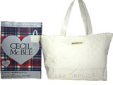 CECIL McBEE 2014 Autumn Collection 《付録》 キルティング×レザー調トートバッグ