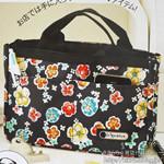 2012年12月号付録 LeSportsac(レスポートサック)ノルマンディ花柄Bag in Bag