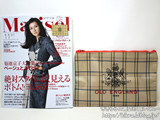 marisol (マリソル) 2012年 11月号 《付録》OLD ENGLANDチェックのメガポーチ
