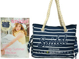 snidel 2014 Spring/Summer Collection NAVY TOTE 《付録》 リボン付きロープバッグNAVY