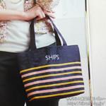 SHIPSリバーシブル マルチボーダートート&パスケース【with (ウィズ) 2012年 05月号】