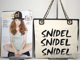 snidel 2012 Autumn/Winter Collection GOLD 《付録》 スクエアトートチェーンバッグ