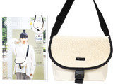 earth music & ecology SHOULDER BAG BOOK BEIGE 《付録》 チャーム付き もこもこショルダーバッグ
