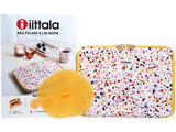 iittala MULTICASE&LID BOOK 《付録》 1.10ポケット収納マルチケース 2.レンジも使える密閉シリコンふた 3.オリジナルステッカー