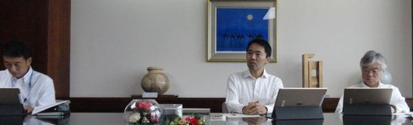 社長との面談について語る松尾市長