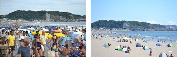 変わる由比ガ浜の夏の景観