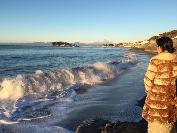 七里ガ浜での発声訓練」