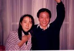 カイロで吉田とツーショット(1988.04   高木治恵撮影)