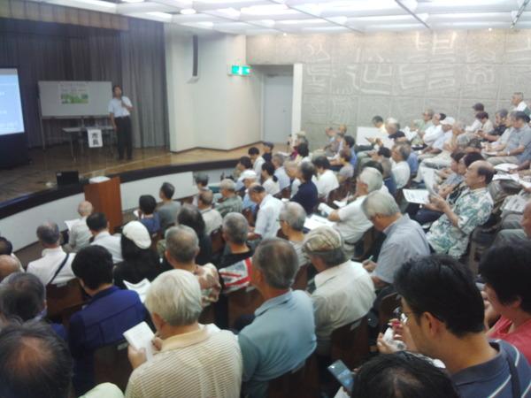 満席の住民集会