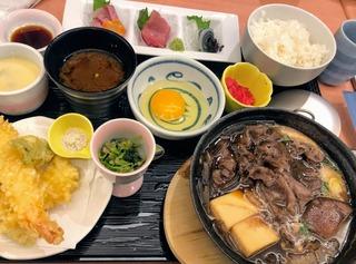 北海道産の牛のすき焼き