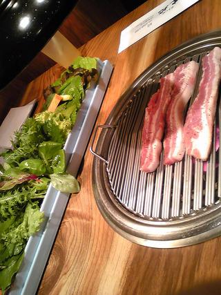 野菜食べ放題の「やさい村 大地」でサムギョプサルを食す! @赤坂見附