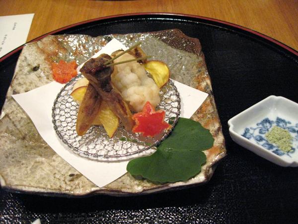 赤坂・溜池の「木都里亭(きとりてい)」で松茸会席コースを食す!マッタケ、はもの天ぷら