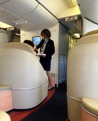 3回目のジャカルタ--エールフランス「AF254」便のファーストクラス、ラ・プルミエール