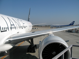 全日空NH010便でニューヨークへ出発
