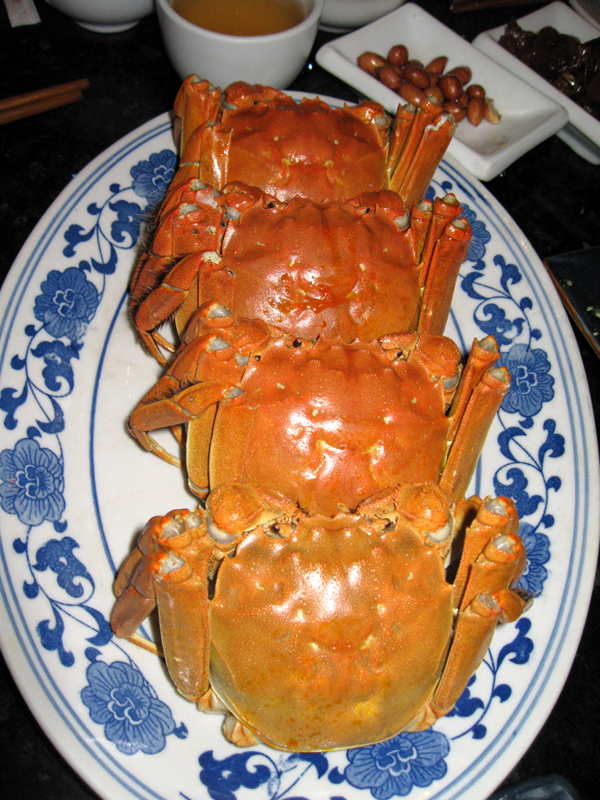 上海・葡萄園の大閘蟹(上海蟹)ダージャーシエ dàzháxièを食す!