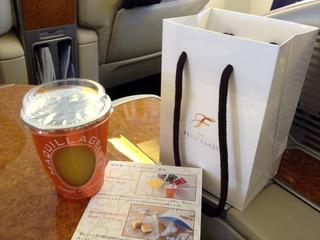 日本航空JALファーストクラスの機内食2012年12月「資生堂パーラー」の朝食